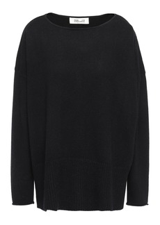 Diane Von Furstenberg Woman Bozeman Oversized Wool And Cashmere-blend Sweater Black