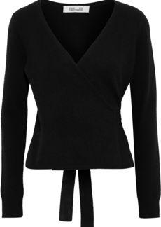 Diane Von Furstenberg Woman Cashmere Wrap Sweater Black