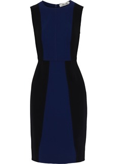 Diane Von Furstenberg Woman Calliope Two-tone Cady Dress Navy