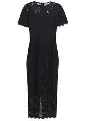 Diane Von Furstenberg Woman Corded Lace Midi Dress Black