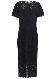 Diane Von Furstenberg Woman Carly Corded Lace Midi Dress Black