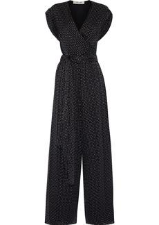Diane Von Furstenberg Woman Cassandra Printed Silk-chiffon Jumpsuit Black
