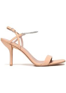 Diane Von Furstenberg Woman Frankie Chain-trimmed Leather Slingback Sandals Neutral