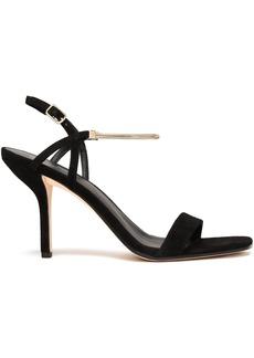 Diane Von Furstenberg Woman Frankie Chain-trimmed Suede Slingback Sandals Black