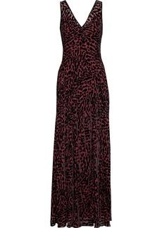 Diane Von Furstenberg Woman Clemine Crystal-embellished Devoré-velvet Gown Black