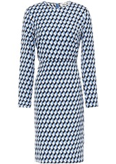 Diane Von Furstenberg Woman Cleo Printed Stretch-crepe Dress Light Blue