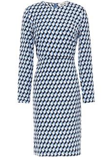 Diane Von Furstenberg Woman Cleo Printed Stretch-crepe Dress Light Blue