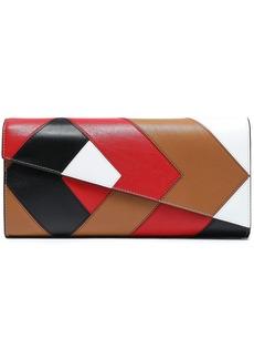 Diane Von Furstenberg Woman Color-block Leather Clutch Black