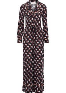 Diane Von Furstenberg Woman Cori Printed Cupro-twill Wide-leg Jumpsuit Black