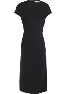 Diane Von Furstenberg Woman Crossover Crepe Dress Black