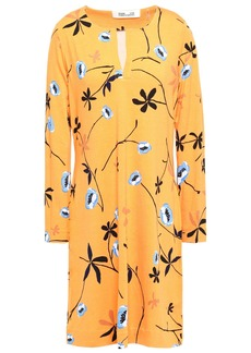 Diane Von Furstenberg Woman Reina Printed Stretch-jersey Mini Dress Marigold