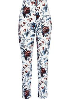 Diane Von Furstenberg Woman Dakota Printed Stretch-cotton Twill Slim-leg Pants White