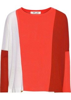 Diane Von Furstenberg Woman Danna Ribbed Merino Wool Sweater Bright Orange