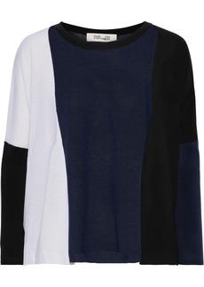 Diane Von Furstenberg Woman Danna Ribbed Merino Wool Sweater Navy