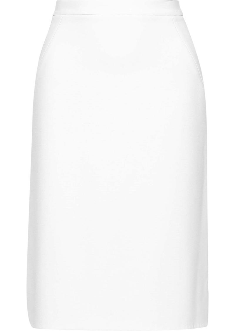 Diane Von Furstenberg Woman Darcey Stretch-cady Pencil Skirt White