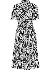 Diane Von Furstenberg Woman Deborah Wrap-effect Zebra-print Silk Crepe De Chine Dress Animal Print