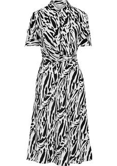 Diane Von Furstenberg Woman Deborah Wrap-effect Zebra-print Silk Crepe De Chine Dress Animal Print