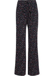 Diane Von Furstenberg Woman Denise Printed Crepe Wide-leg Pants Black