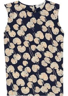Diane Von Furstenberg Woman Diem Printed Silk Crepe De Chine Top Navy