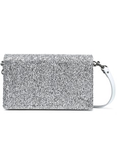 Diane Von Furstenberg Woman Disco Soirée Mini Tinsel-appliquéd Mirrored-leather Shoulder Bag Silver