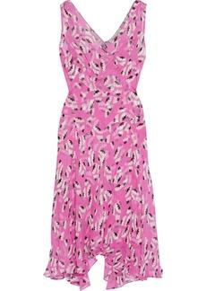 Diane Von Furstenberg Woman Dita Asymmetric Floral-print Silk-georgette Dress Pink