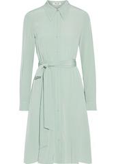 Diane Von Furstenberg Woman Dory Belted Silk Crepe De Chine Shirt Dress Mint