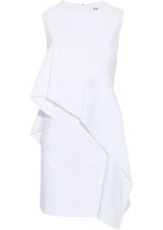 Diane Von Furstenberg Woman Draped Linen-blend Twill Mini Dress White