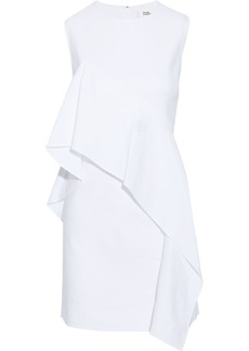 Diane Von Furstenberg Woman Draped Linen-blend Twill Mini Dress White