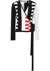 Diane Von Furstenberg Woman Ellis Intarsia-knit Wrap Top Ivory