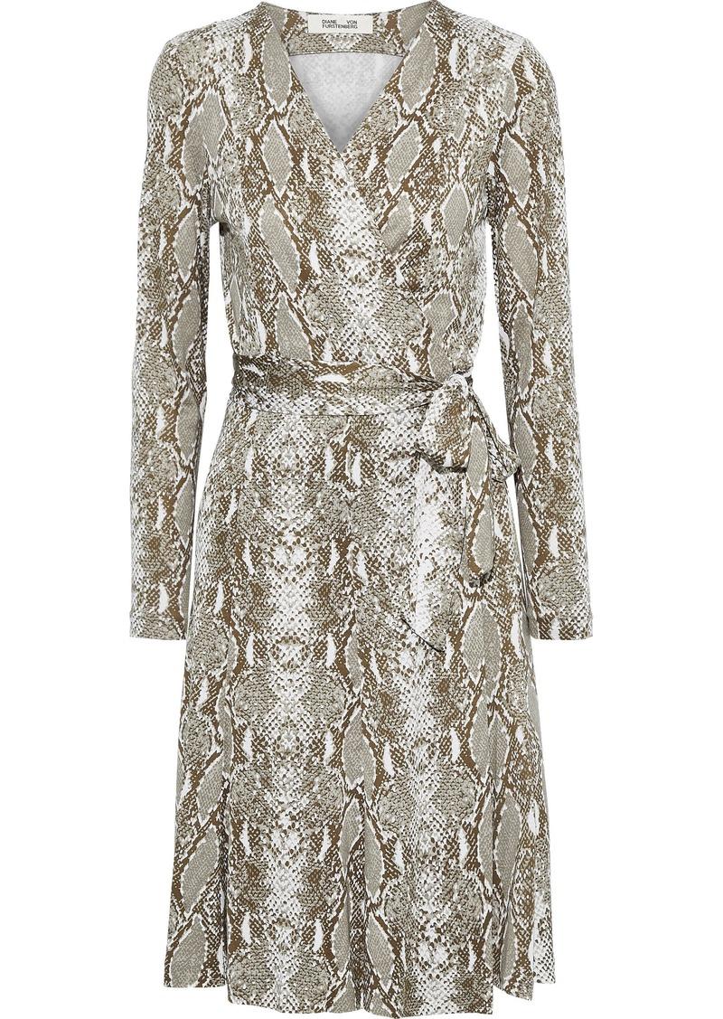 Diane Von Furstenberg Woman Elowen Printed Silk-jersey Wrap Dress Animal Print