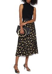 Diane Von Furstenberg Woman Emani Merino Wool-blend Top Black
