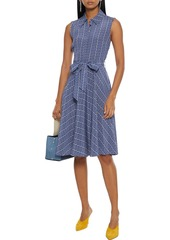 Diane Von Furstenberg Woman Emery Belted Printed Silk Crepe De Chine Dress Indigo