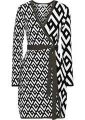 Diane Von Furstenberg Woman Everly Jacquard-knit Mini Wrap Dress Black