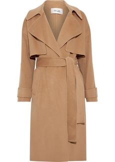 Diane Von Furstenberg Woman Fann Belted Wool-felt Coat Tan