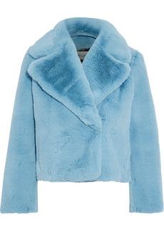 Diane Von Furstenberg Woman Faux Fur Coat Sky Blue