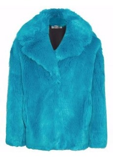 Diane Von Furstenberg Woman Faux Fur Coat Turquoise