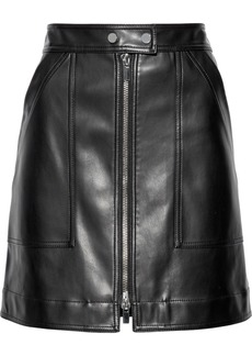 Diane Von Furstenberg Woman Faux Leather Mini Skirt Black