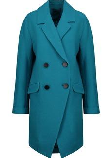 Diane Von Furstenberg Woman Finola Double-breasted Wool-felt Coat Teal