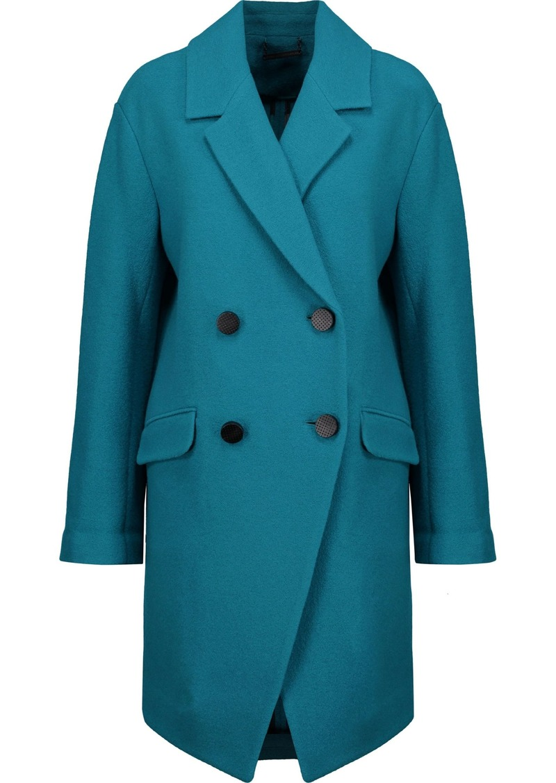 Diane Von Furstenberg Woman Finola Double-breasted Wool-felt Coat Teal