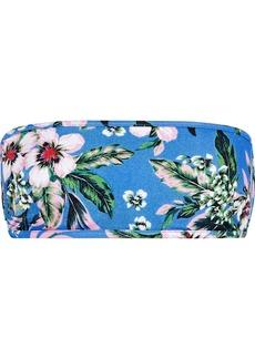 Diane Von Furstenberg Woman Floral-print Bandeau Bikini Top Blue