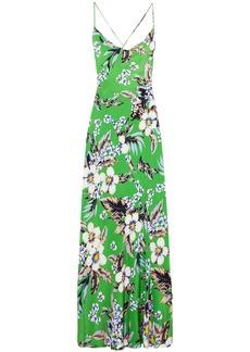 Diane Von Furstenberg Woman Floral-print Silk Crepe De Chine Maxi Dress Green