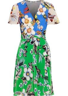 Diane Von Furstenberg Woman Printed Silk Wrap Dress Multicolor