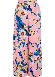 Diane Von Furstenberg Woman Floral-print Twill Wide-leg Pants Baby Pink