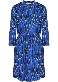 Diane Von Furstenberg Woman Freya Printed Stretch-jersey Mini Dress Blue