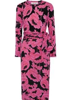 Diane Von Furstenberg Woman Gabel Floral-print Merino Wool Dress Pink