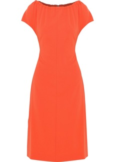 Diane Von Furstenberg Woman Gathered Crepe Dress Papaya