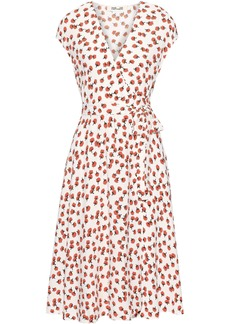 Diane Von Furstenberg Woman Goldie Floral-print Crepe Wrap Dress White