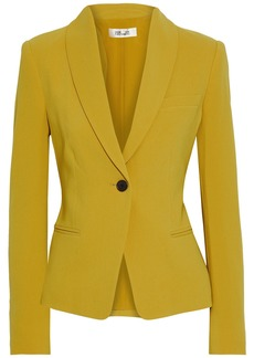 Diane Von Furstenberg Woman Halzie Crepe Blazer Mustard