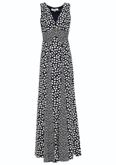 Diane Von Furstenberg Woman Harbor Printed Silk Crepe De Chine Maxi Dress Midnight Blue