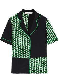 Diane Von Furstenberg Woman Iman Printed Silk Crepe De Chine Shirt Green